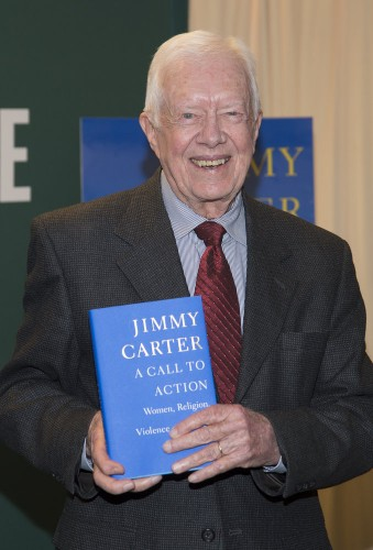 "Jimmy Carter's ""A Call to Action"" Book Signing at Barnes & Noble in New York City on March 25, 2014"