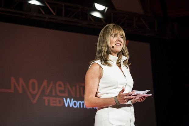 "Host Jacki Zehner speaks during the ""Investing in Ideas"" Learning Track session at TEDWomen2015 - Momentum, May 27-29, 2015, Monterey Conference Center, Monterey, California, USA. Photo: Marla Aufmuth/TED"