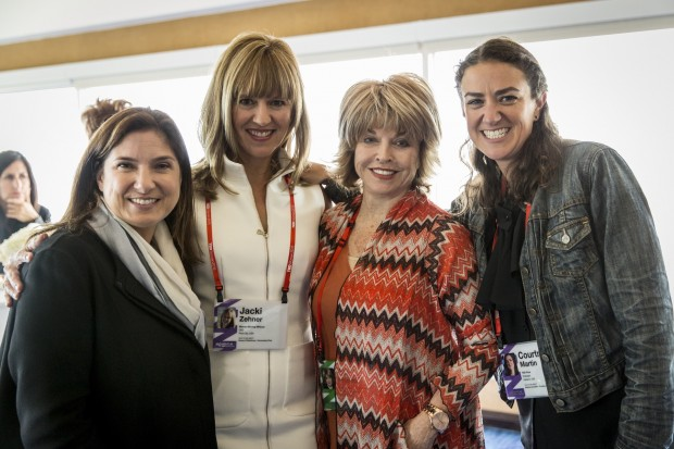 Regina Scully, Jacki Zehner, Pat Mitchell, and Courtney E. Martin at the speaker reception at TEDWomen2015 - Momentum, May 27-29, 2015, Monterey Conference Center, Monterey, California, USA. Photo: Marla Aufmuth/TED
