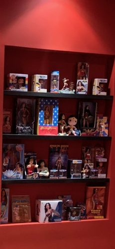 A photo of Jacki's extensive Wonder Woman memorabilia collection.