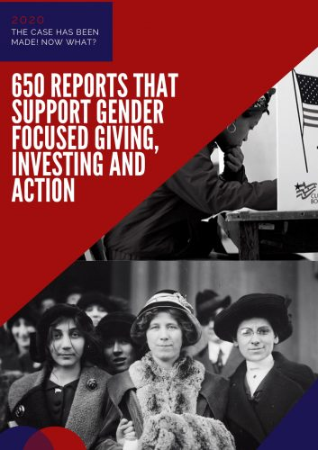A photo of the cover page of Jacki Zehner's Top 650 Reports on Women and Girls.