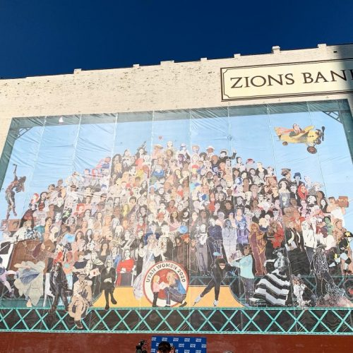 A photo of the Utah Women 2020 Mural in downtown Salt Lake City