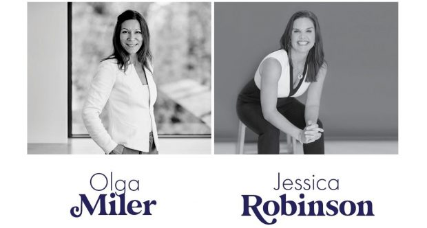 Side by side headshots of Olga Miler and Jessica Robinson